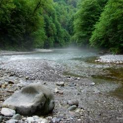 Река Агва впадает в реку Сочи