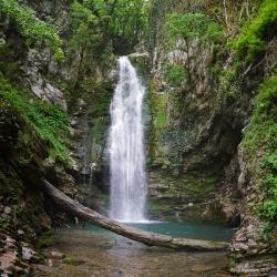 Верхний водопад Ажек. 7 мая 2017 г.