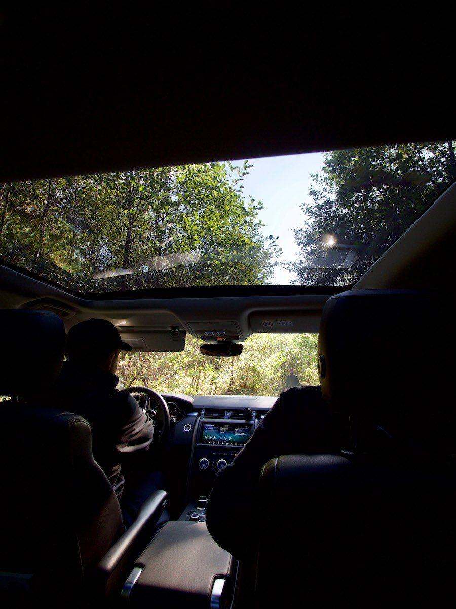 Land Rover, вид из кабины
