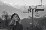 Портрет Арины на фоне гор