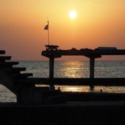 Закат над Черным морем, сентябрь 2017 г.