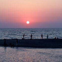 Закат над Чёрным морем в Сочи