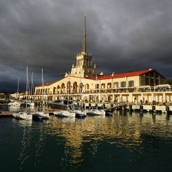 Commercial seaport of Sochi