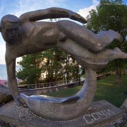 Сочи, Sochi. Плавец и дельфин
