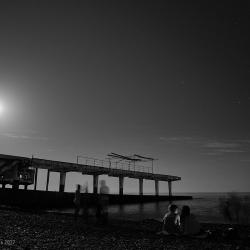 Ночной пляж Сочи