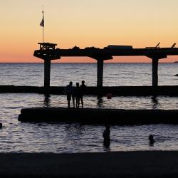 Закат над сочинскими Пляжами