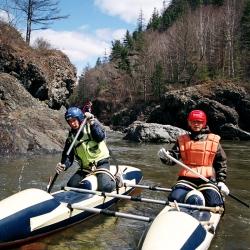 Река Кема. На соревнованиях по водному туризму.